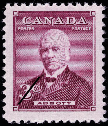 Abbott Canada Postage Stamp | Prime Ministers