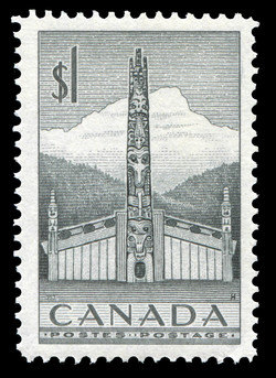 The Totem Pole Canada Postage Stamp