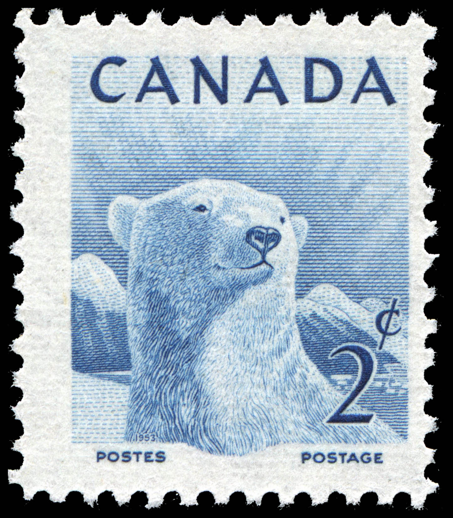 Polar Bear Canada Postage Stamp