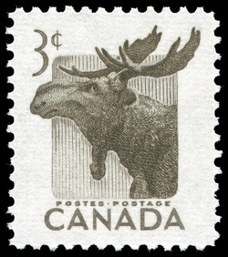 Moose Canada Postage Stamp National Wildlife