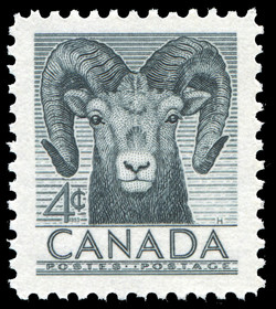 Bighorn Sheep Canada Postage Stamp National Wildlife
