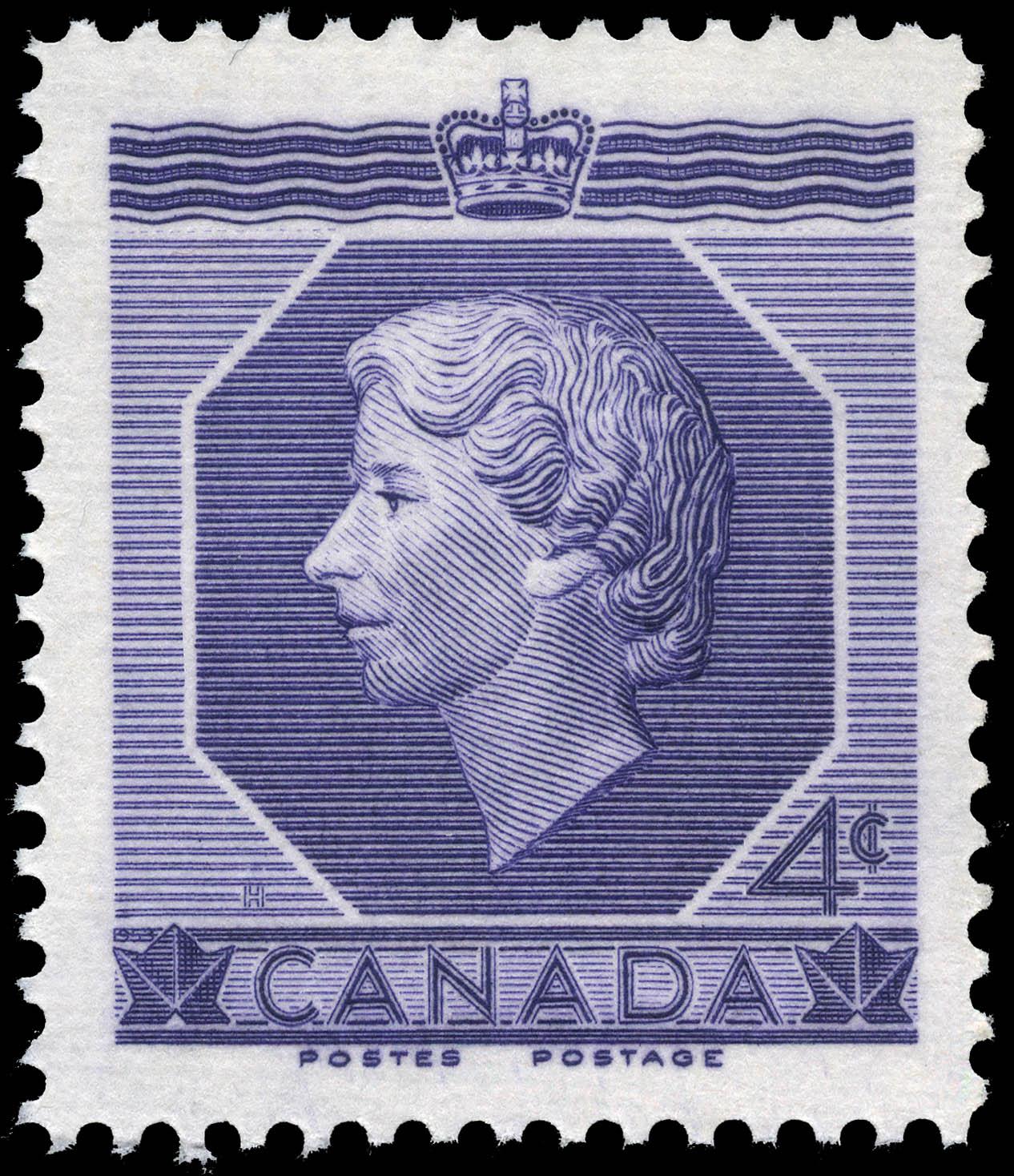 H.M. Queen Elizabeth II, Coronation Canada Postage Stamp
