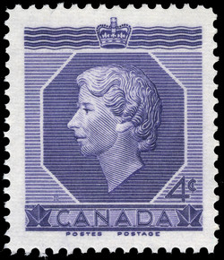 H.M. Queen Elizabeth II, Coronation Canada Postage Stamp