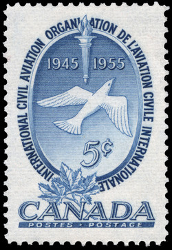 International Civil Aviation Organization, 1945-1955 Canada Postage Stamp