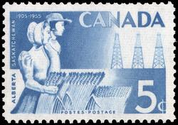 Alberta & Saskatchewan, 1905-1955 Canada Postage Stamp