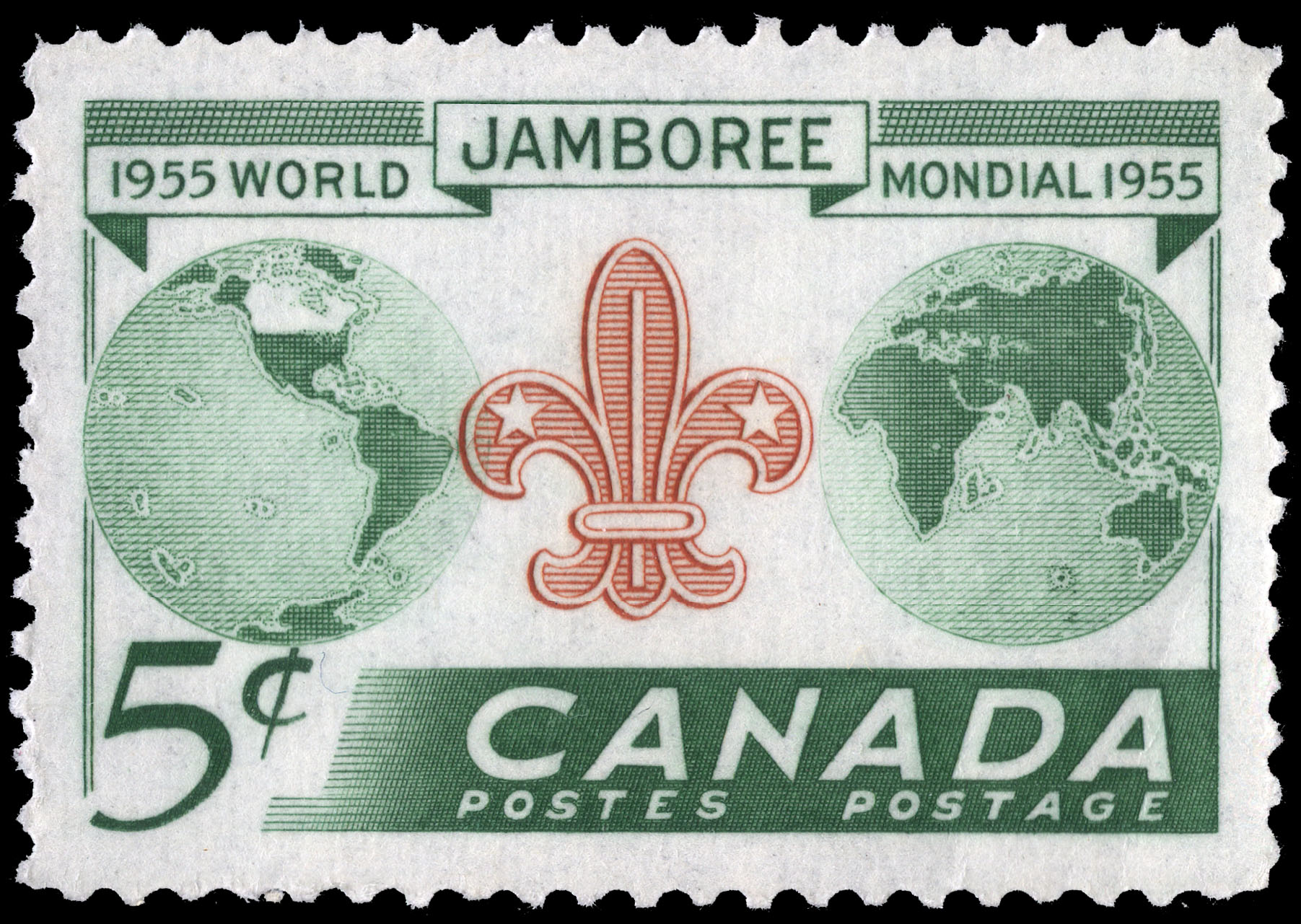 World Jamboree, 1955 Canada Postage Stamp