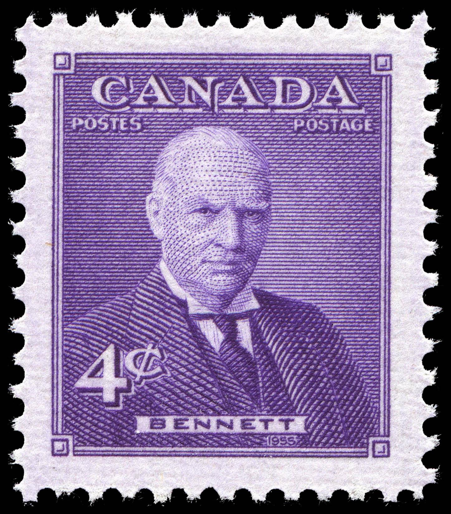 Bennett Canada Postage Stamp