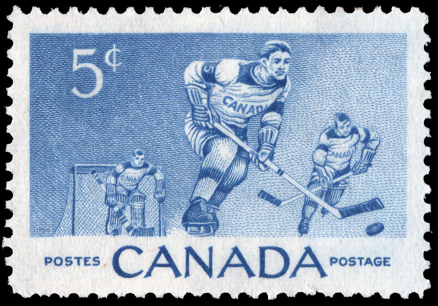 Hockey Canada Postage Stamp