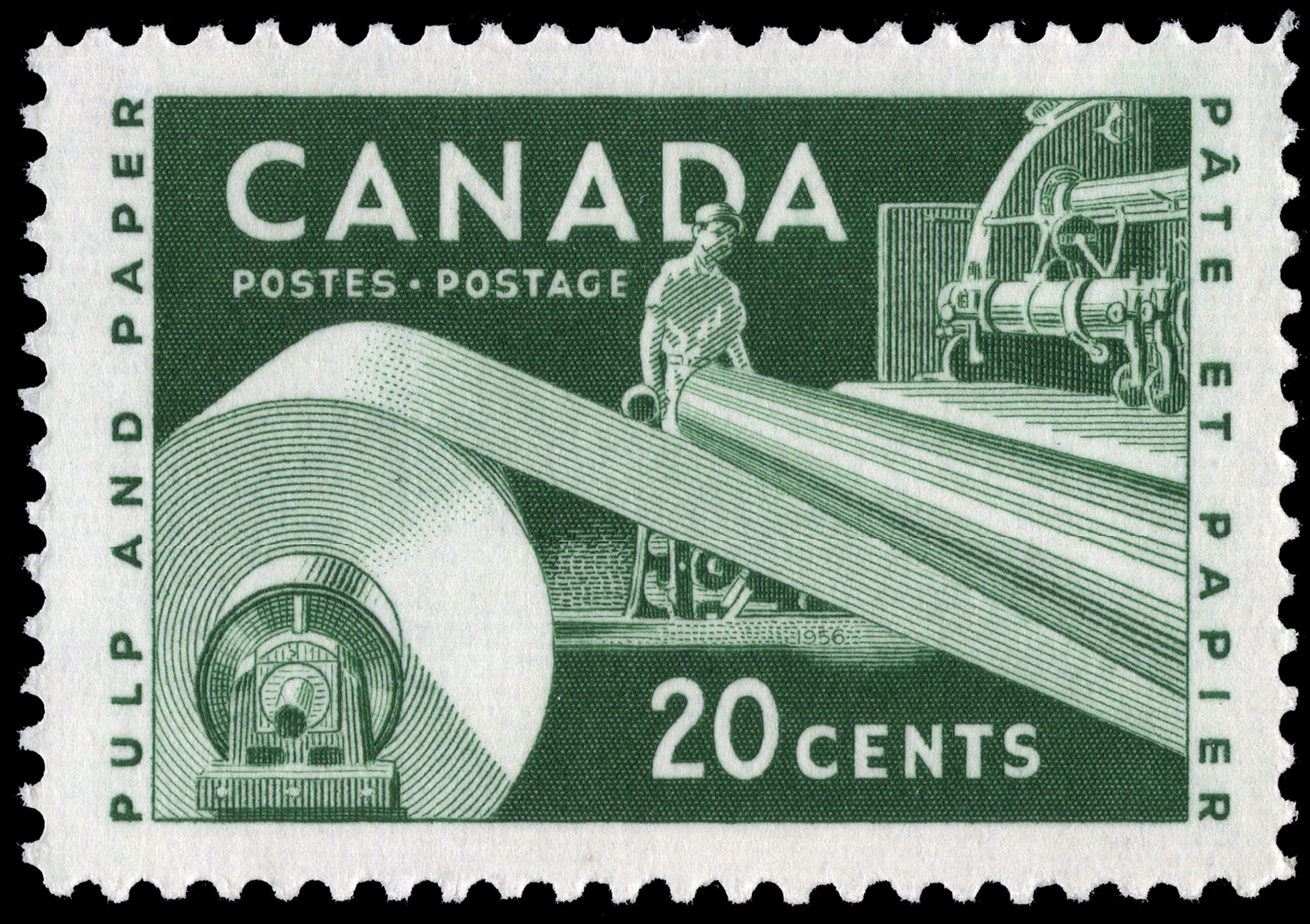Pulp and Paper Canada Postage Stamp