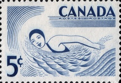 Swimming Canada Postage Stamp   Canada - All Seasons Playground