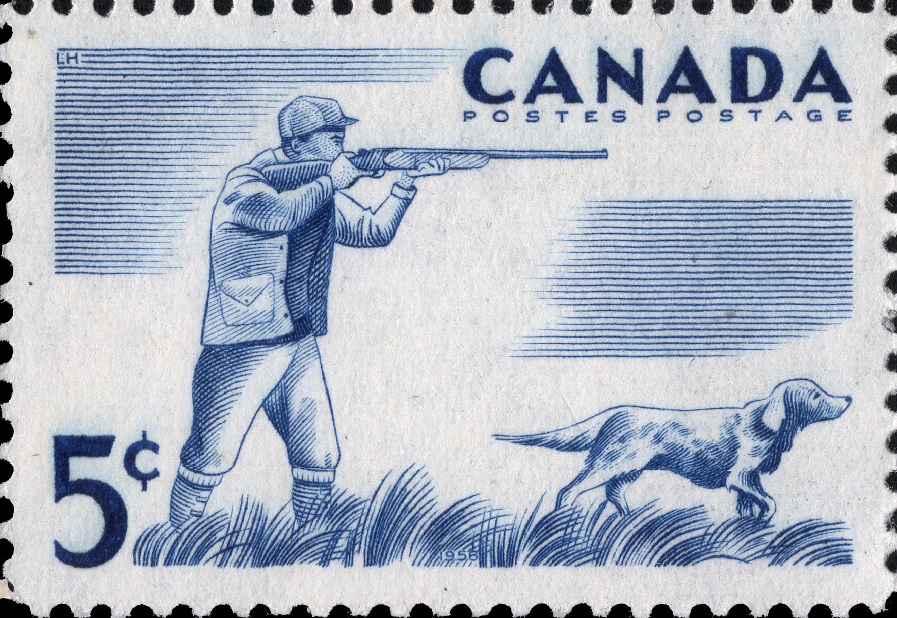 Hunting Canada Postage Stamp
