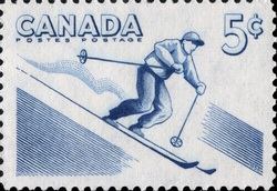 Skiing Canada Postage Stamp | Canada - All Seasons Playground