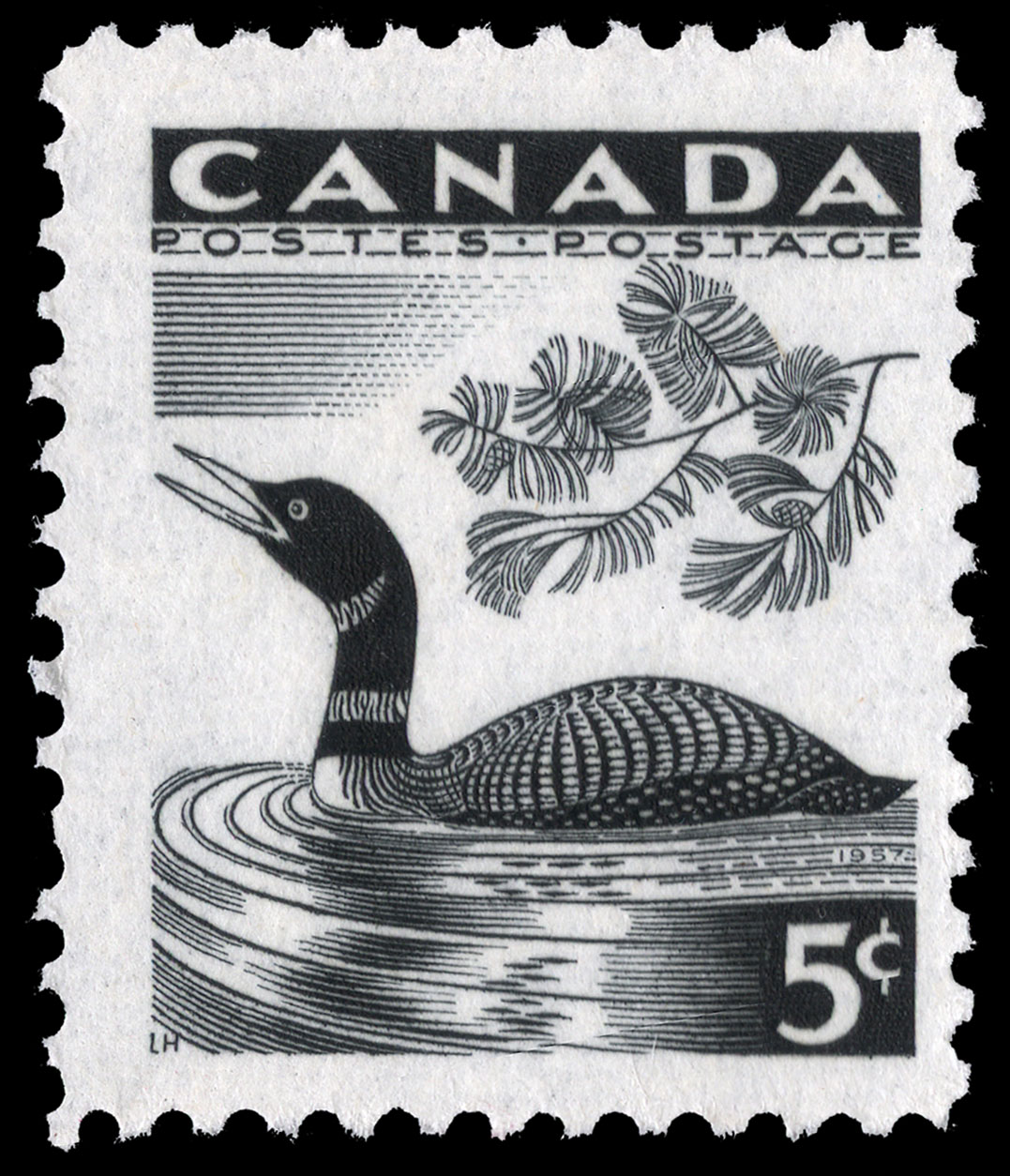 Common Loon Canada Postage Stamp