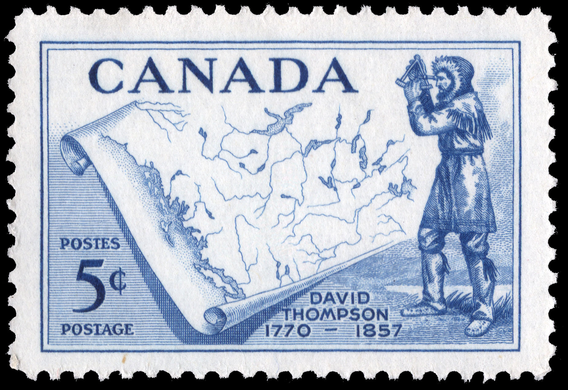 David Thompson, 1770-1857 Canada Postage Stamp