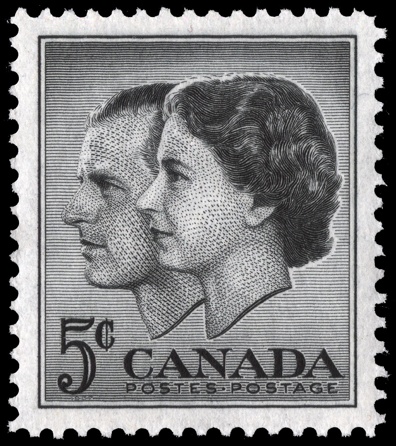Queen Elizabeth II & Prince Philip Canada Postage Stamp