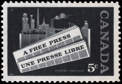 A Free Press Canada Postage Stamp