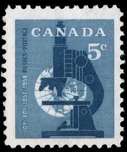 International Geophysical Year, 1957-1958 Canada Postage Stamp