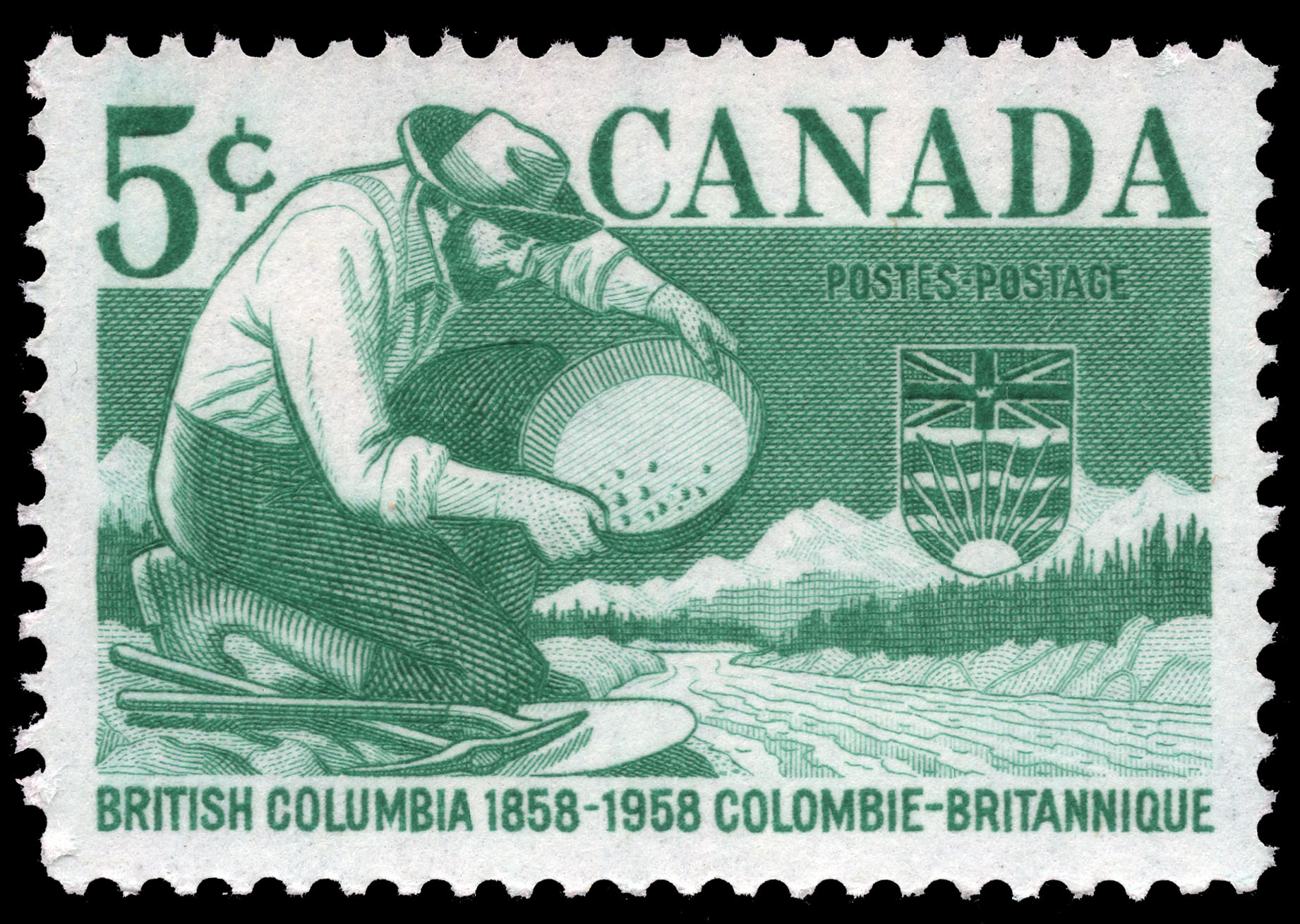 British Columbia, 1858-1958 Canada Postage Stamp