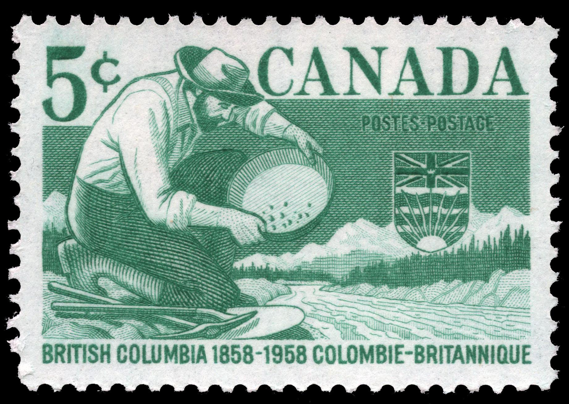British Columbia, 1858-1958 Canada Postage Stamp
