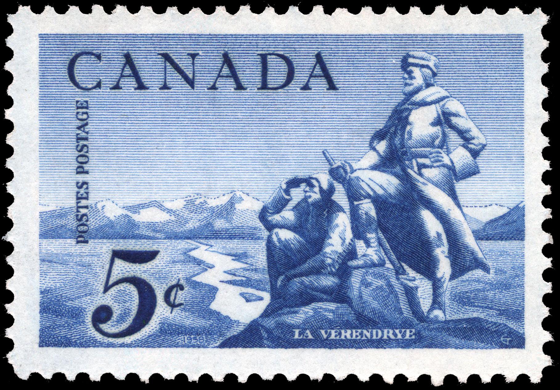 La Verendrye Canada Postage Stamp