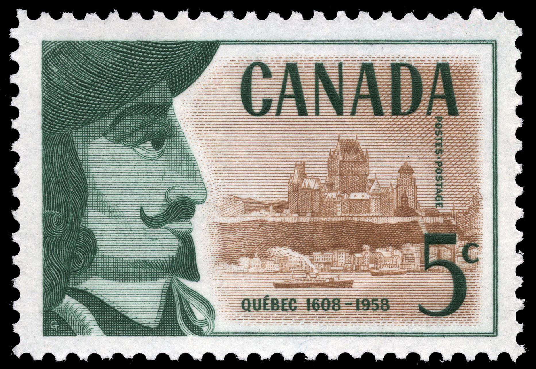 Quebec, 1608-1958 Canada Postage Stamp