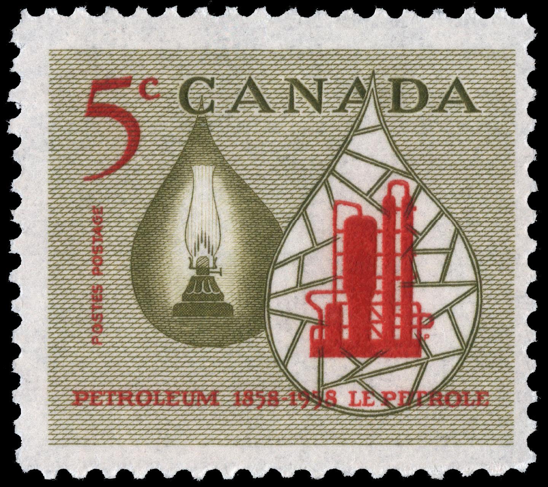 Petroleum, 1858-1958 Canada Postage Stamp