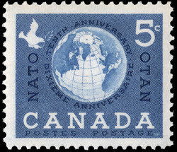 NATO, Tenth Anniversary Canada Postage Stamp
