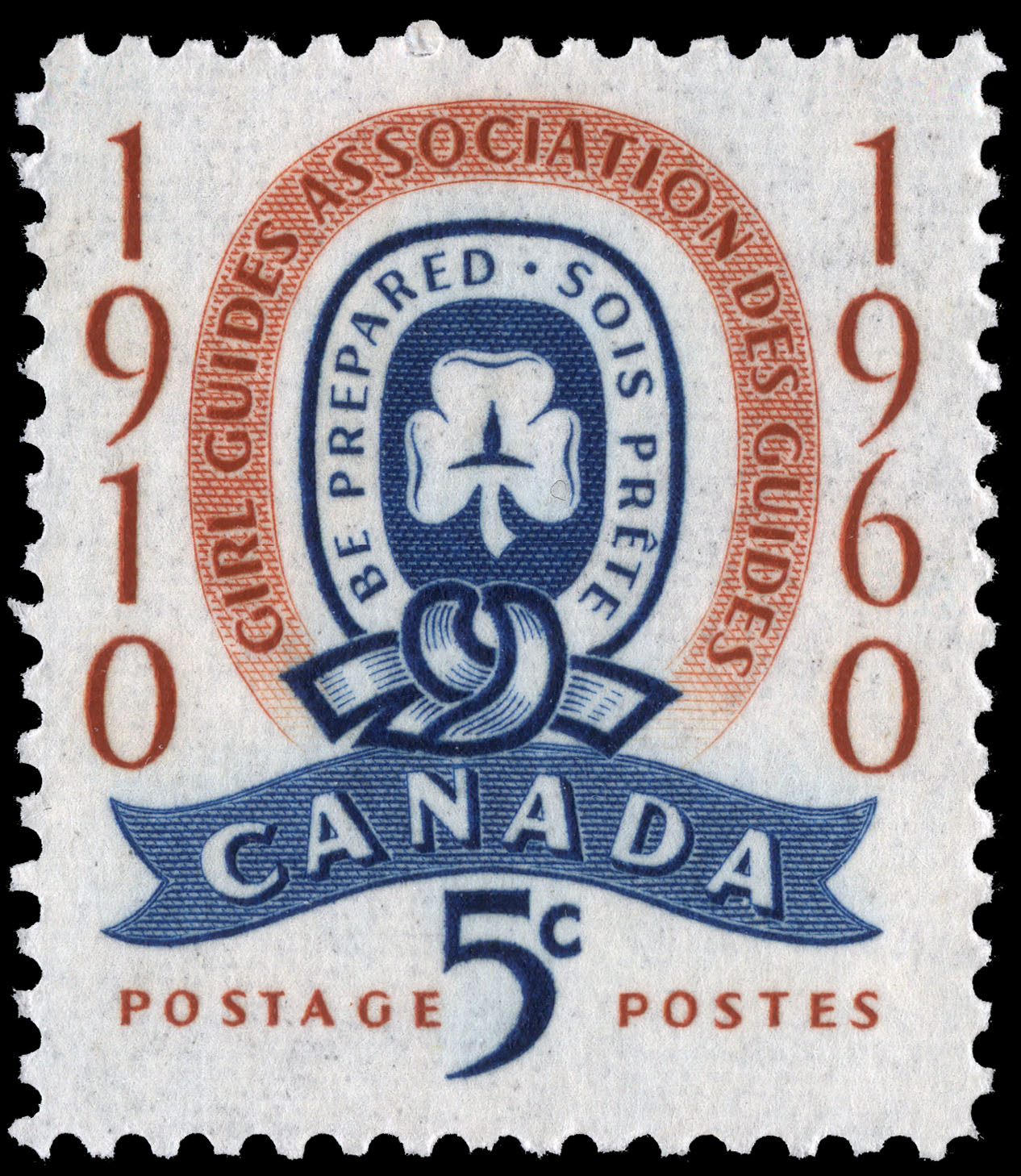 Girl Guides Association, 1910-1960, Be Prepared Canada Postage Stamp