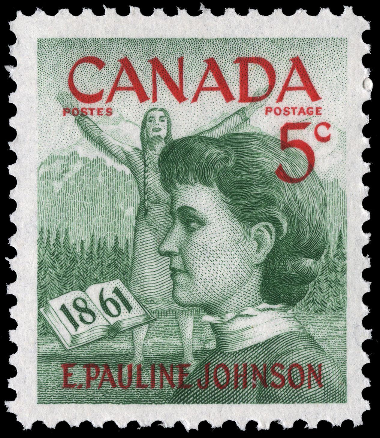 E. Pauline Johnson, 1861 Canada Postage Stamp