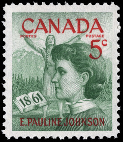 E. Pauline Johnson, 1861 Canada Postage Stamp