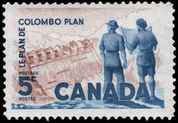 Colombo Plan Canada Postage Stamp