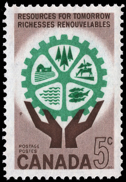 Resources for tomorrow Canada Postage Stamp