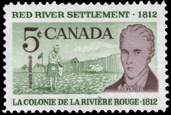 Red River Settlement, 1812, Selkirk Canada Postage Stamp