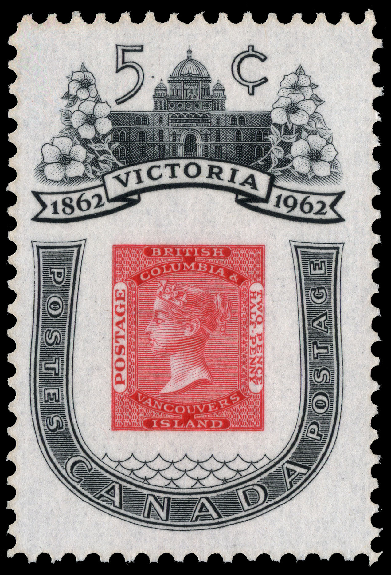 Victoria, 1862-1962 Canada Postage Stamp