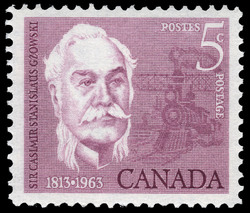 Sir Casimir Stanislaus Gzowski, 1813-1963 Canada Postage Stamp