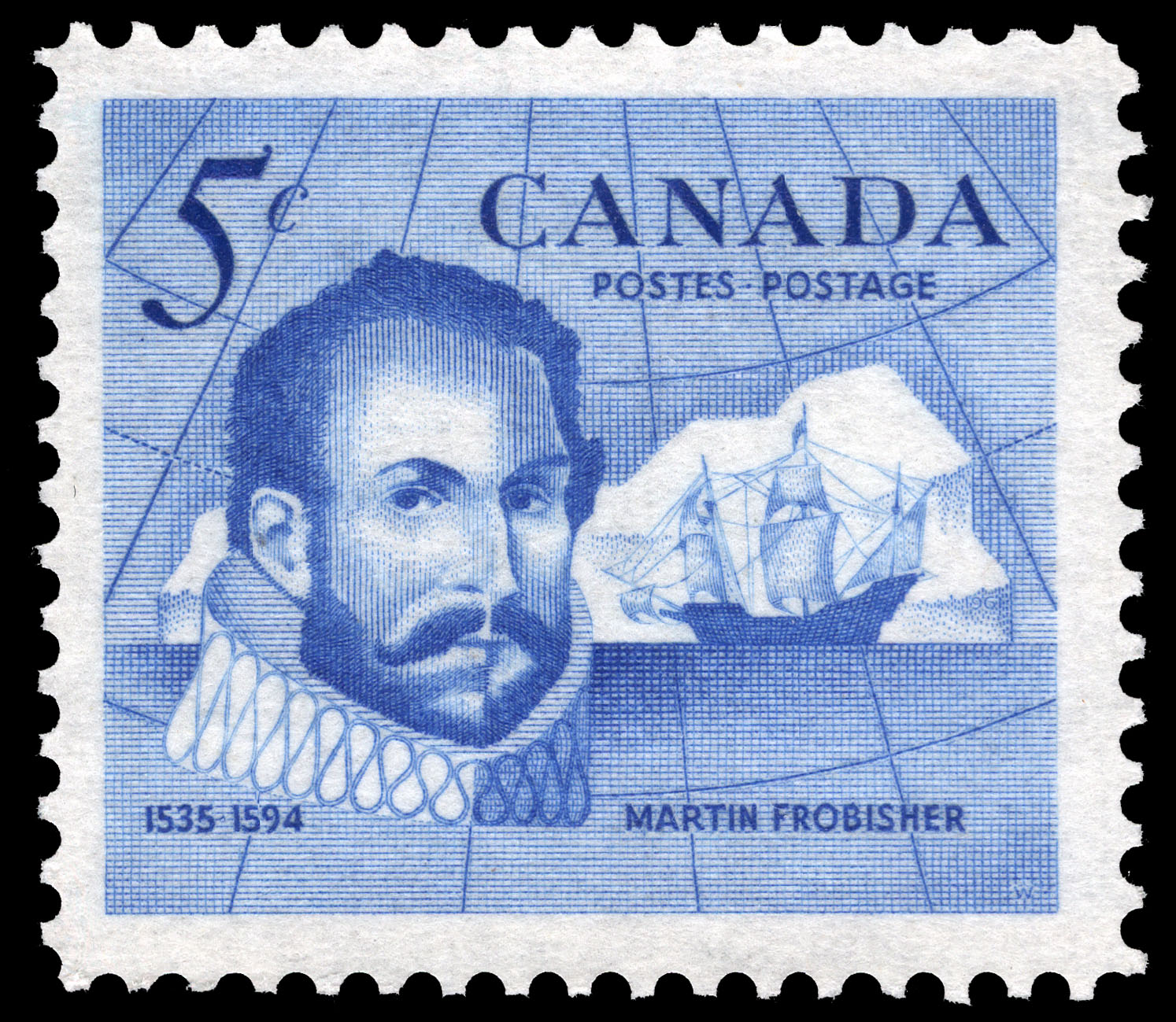Martin Frobisher, 1535-1594 Canada Postage Stamp