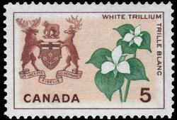 White Trillium, Ontario Canada Postage Stamp | Floral Emblems