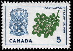 Mayflower, Nova Scotia Canada Postage Stamp | Floral Emblems