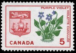 Purple Violet, New Brunswick Canada Postage Stamp   Floral Emblems