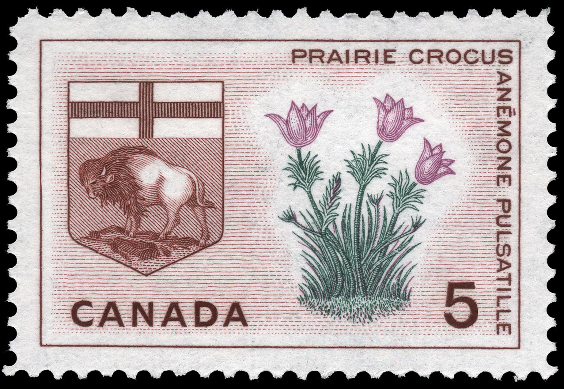 Prairie Crocus, Manitoba Canada Postage Stamp
