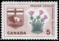 Prairie Crocus, Manitoba Canada Postage Stamp | Floral Emblems