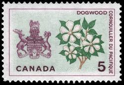 Dogwood, British Columbia Canada Postage Stamp | Floral Emblems
