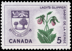 Lady's Slipper, Prince Edward Island Canada Postage Stamp | Floral Emblems