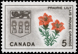 Prairie Lily, Saskatchewan Canada Postage Stamp | Floral Emblems