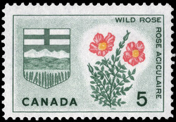 Wild Rose, Alberta Canada Postage Stamp | Floral Emblems