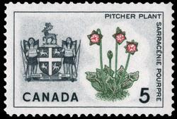Pitcher Plant, Newfoundland Canada Postage Stamp | Floral Emblems