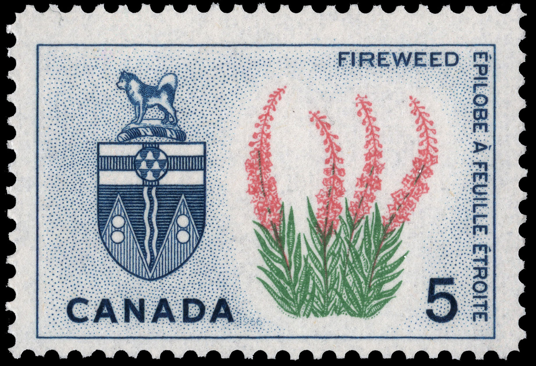 Fireweed, Yukon Canada Postage Stamp