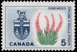 Fireweed, Yukon Canada Postage Stamp | Floral Emblems