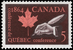 Quebec Conference, 1864 Canada Postage Stamp