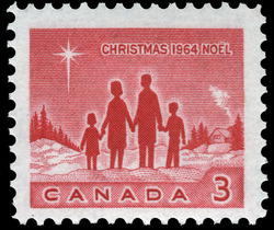 Family Canada Postage Stamp | Christmas